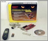 Typhoon DVB-T DVB T TV Karte PCI Card Lite + Fernbedienung & Low Profile OVP NEU