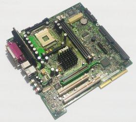 Dell 06J580 Mainboard 775 SD-RAM 2x COM LPT 2x USB PS2 AGP PCI Riser PWB 5D612
