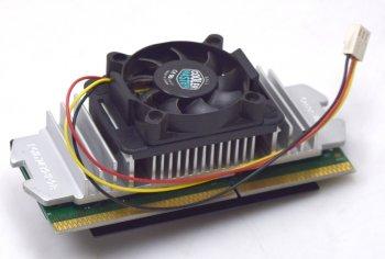 Intel Pentium III SL3JM 600MHz 512KB 100MHz Slot 1 CPU Katmai +aktiver Kühler