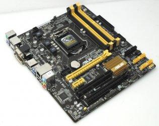 Asus B85M-E B85M E mATX Mainboard Intel Sockel 1150 HDMI Displayport DVI +Blende