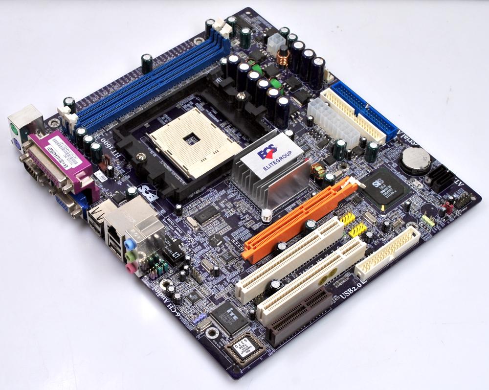 ECS 760GX-M2 V3 0 760GX M2 Mainboard AMD Sockel 754 AGP VGA Sound LAN SATA  RAID