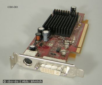 AMD ATI Radeon X600 128 MB PCI Express TV-Out DVI Low Profile & Standard Slot