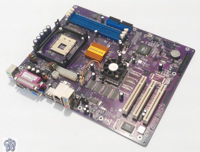 ECS L4VXAG Mainboard 478 Intel Pentium DDR COM LPT 2x IDE 3x PCI VGA FDD 6x  USB