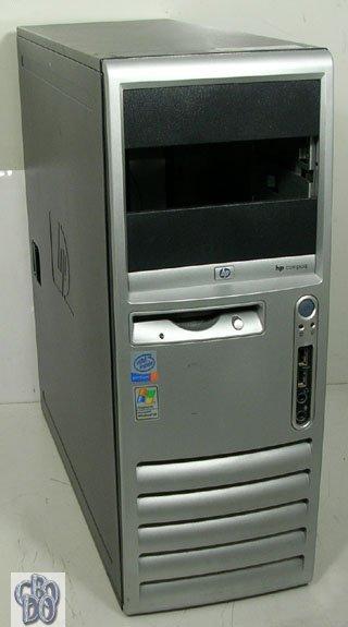 HP Compaq d530 CMT Mini Tower Gehäuse silber black + Floppy Laufwerk & Lüfter