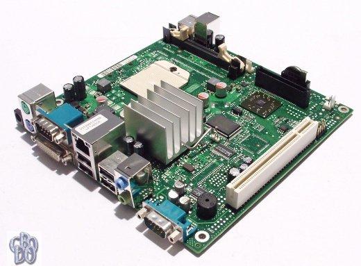Fujitsu D2703-A12 GS2 D2703 A12 mini-ITX Motherboard Socket S1 AMD ATI X1250 PCI