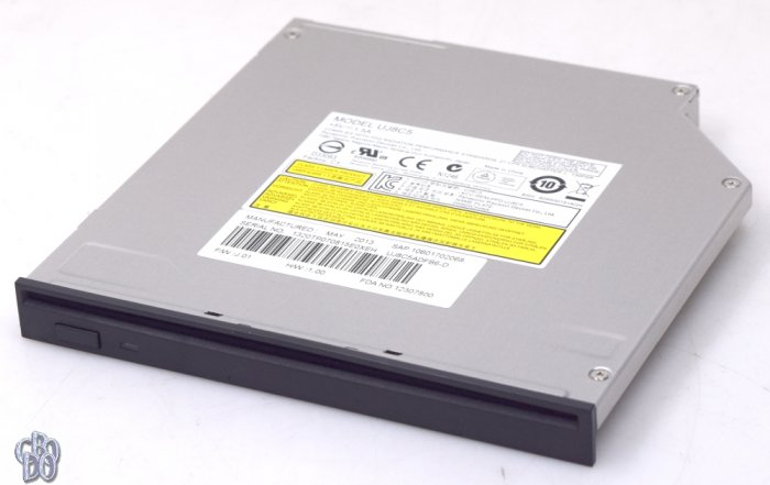 Panasonic UJ8C5 slimline slim Notebook DVD RW Brenner Slot in SATA schwarz NEU
