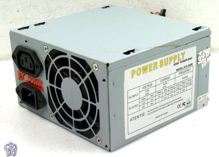 POWER SUPPLY ATX-450W 450 Watt Netzteil 80mm Lüfter 20/
