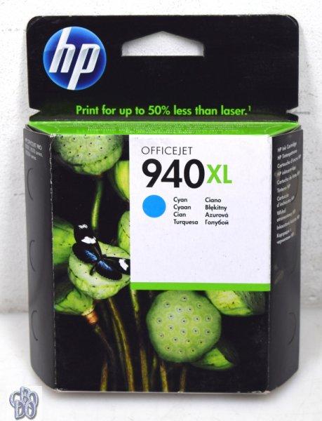 HP C4907AE 940XL Tintenpatrone Patrone Cyan OfficeJet PRO 8000 8500 OVP NEW