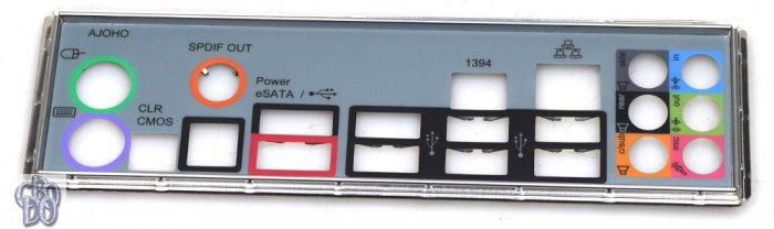 13G020352000AK ATX Blende I/O Shield FiWi SPDIF USB RJ45 für ASRock H55 PRO NEU