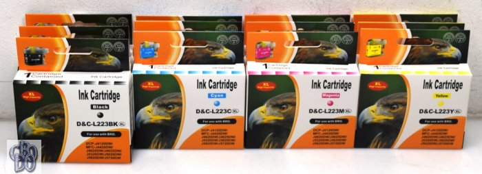 D&C-L223X Printer Cartridges 12 Multi-Pack for Brother DCP-J4120DW OVP NEW