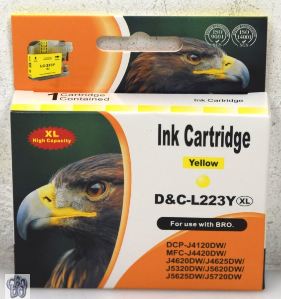 D&C-L223Y Printer Cartridge yellow for Brother DCP-J4120DW MFC-J4420DW OVP NEW