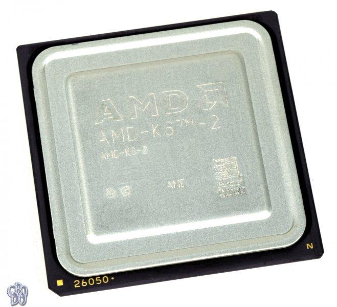 AMD K6-2 AMD-K6-2/350AFR 350MHz CPU Socket Super 7 CXT 2.2V 70°C 19.95W 32-bit