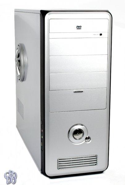 QVision QV-826SB Midi Tower PC case silver/black + 92 mm fan / 420 Watt power supply NEW