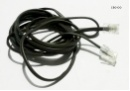 8P4C Telephone Cable RJ31 4-pin male to 4-pin male 290cm 2.9m black NEW