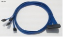 Maxdata 2100077446 00020 Kabel 4x SATA 1x SAS ACK-INT-SATA-FANOUT-1M 1m blau NEU