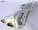 DVI DVI-D Single Link Kabel mit Ferritkern 180 cm 1,8 m cable Video TFT PC NEW